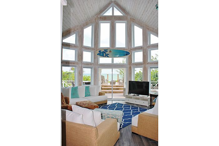 Open living area with great ocean views