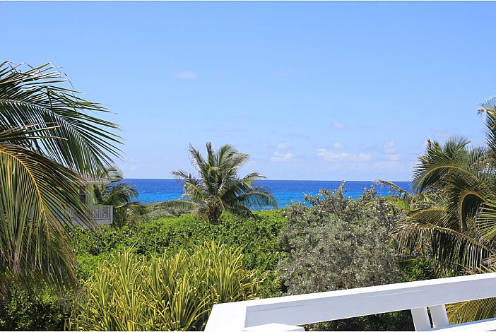 View of the ocean from deck.