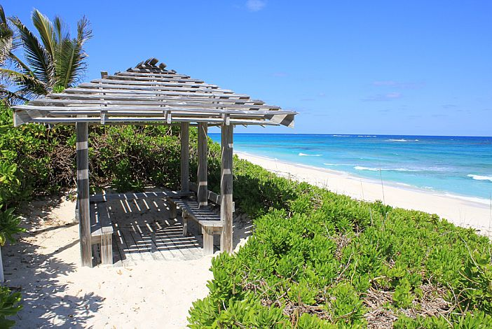 Gazebo overlooking the beach