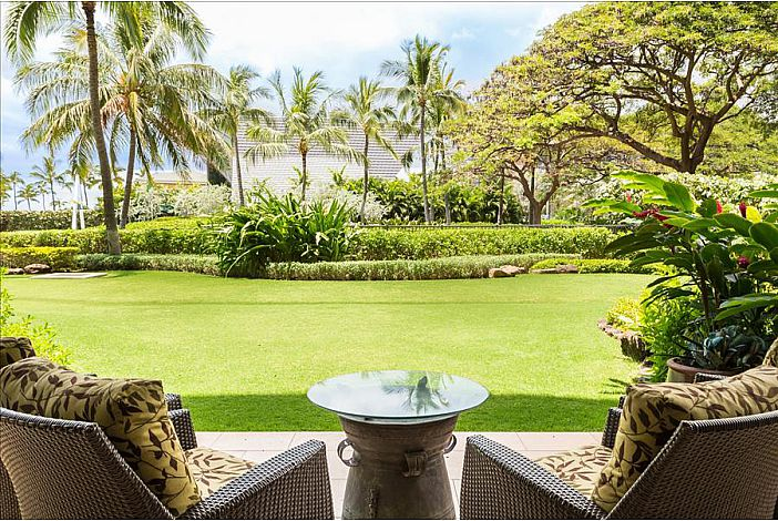 Ample green space outside your lanai