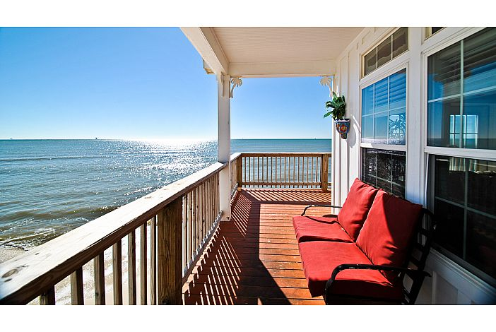 Gulf-view covered porch