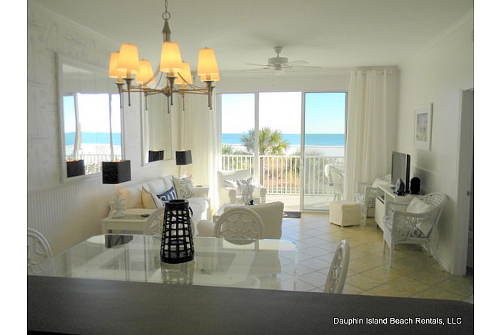 Gulf-front condo overlooking heated pool