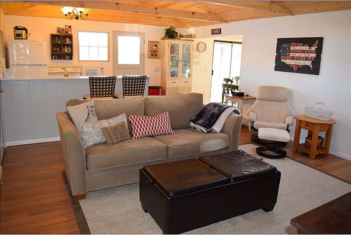 Waters Edge Cabin Living Room at LandsEnd