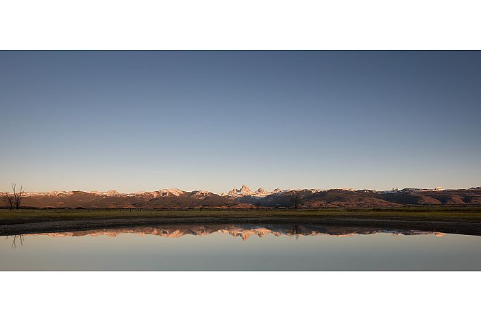 Pond outside with Teton Views