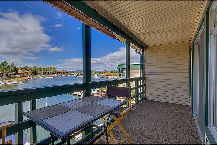 Deck in master bedroom overlooking the water