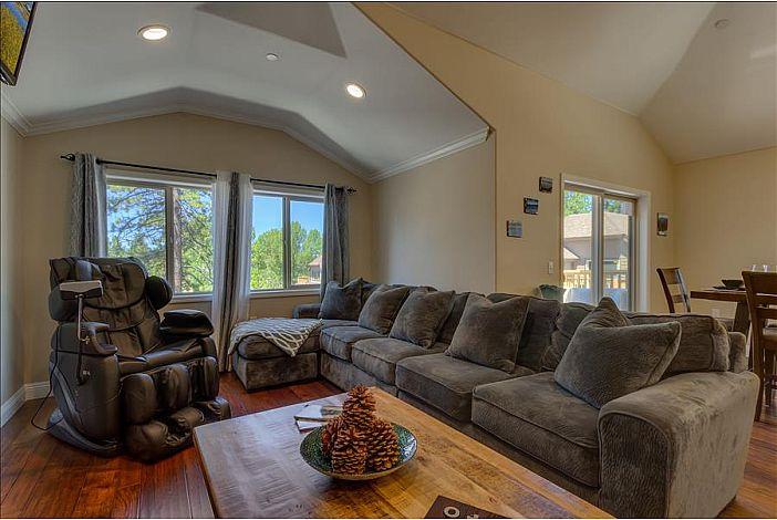 Super comfortable sofa seating + massage chair