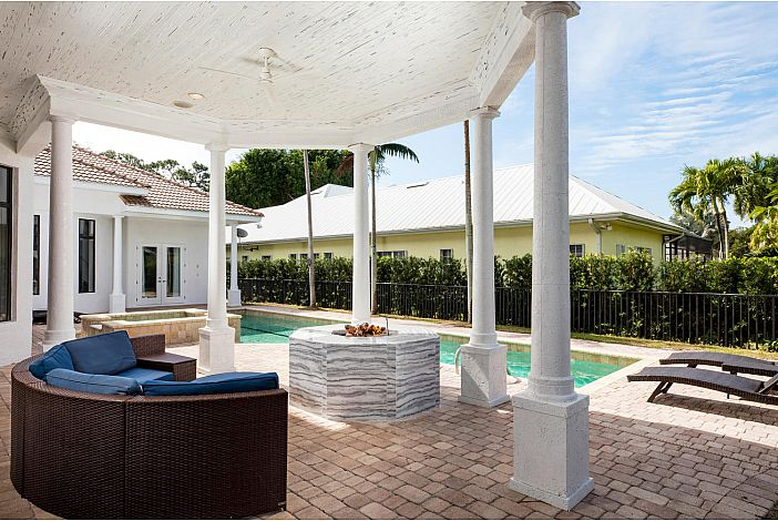 Downstairs Patio, Fire Pit, and Pool