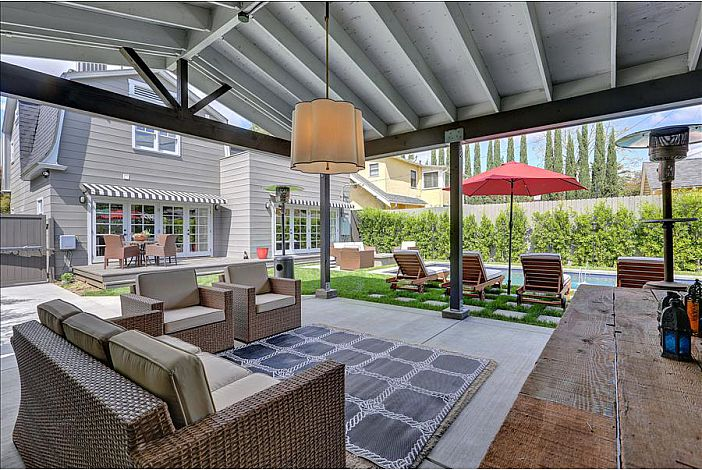 Relax in the shade of the Outdoor Living room