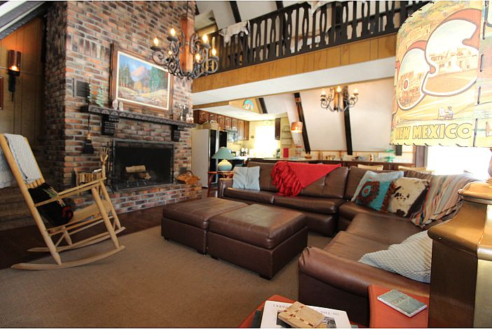2nd Floor Living Room with Wood burning fireplace