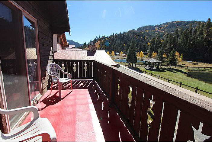 Front Deck from Bedroom #2 with view of ski area