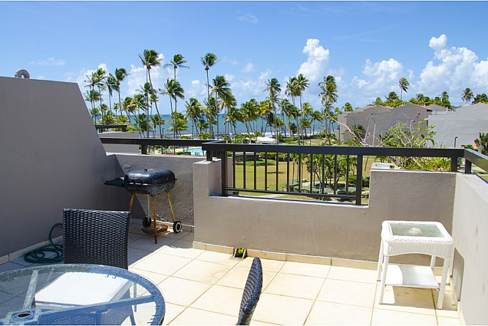 Huge Terrace Overlooking Caribbean Sea