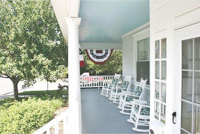 Enjoy the wrap around porch