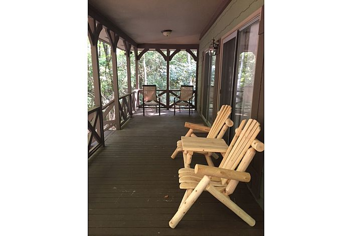 Large front covered deck