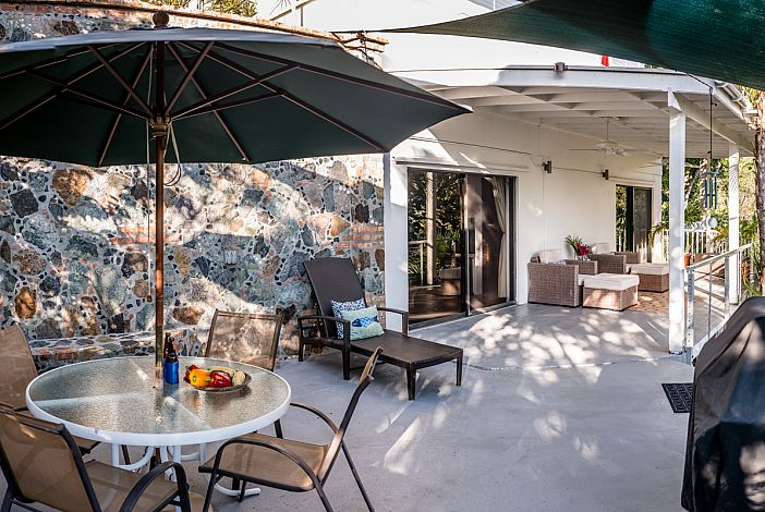 Your St. John Vacation Home - Expansive patio