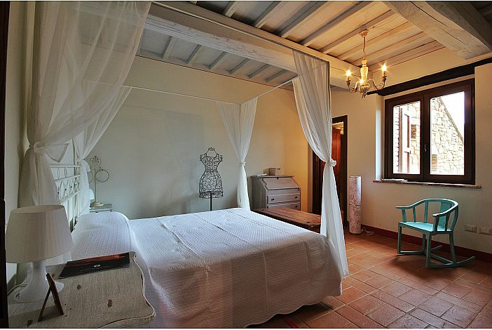 the master bedroom at Tignanello