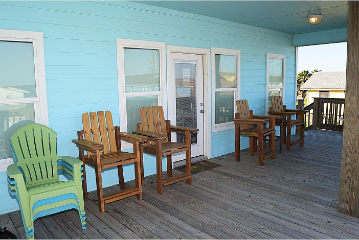 Partially Shaded Front Deck