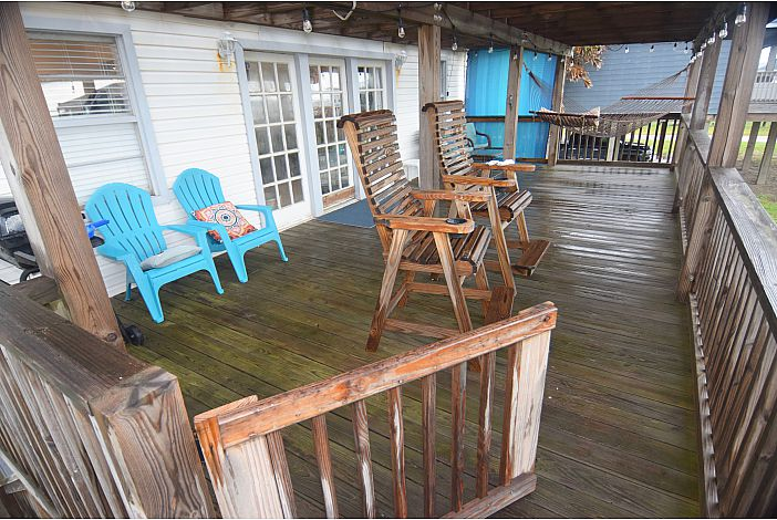 Large Shaded Front Deck