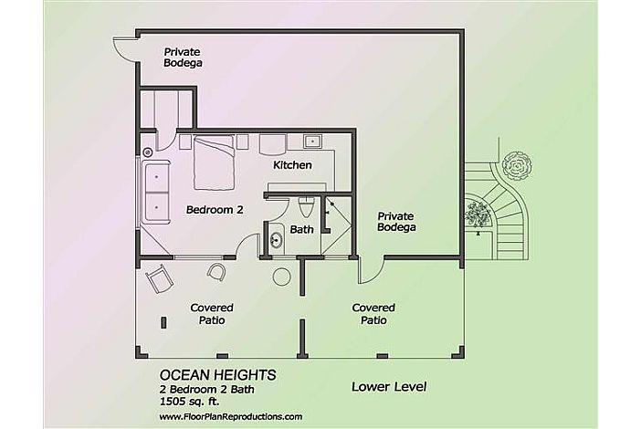 Floor plan of studio downstairs