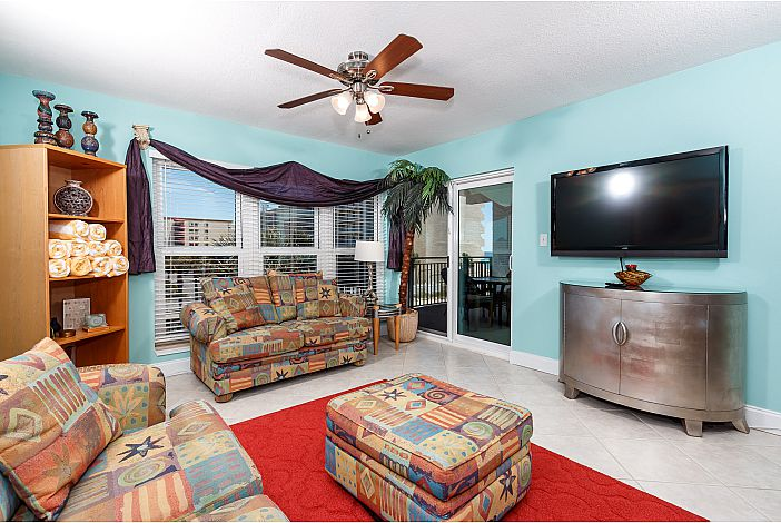 Enjoy the Large flat screen TV after the beach!