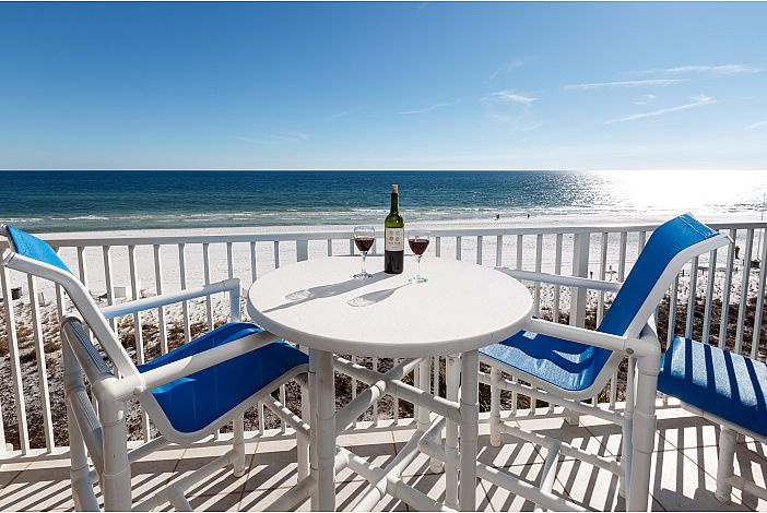Relax on balcony with a glass of wine!