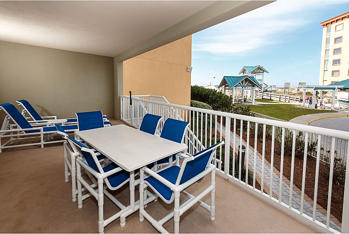 Relax on the spacious patio for picnics & lounging