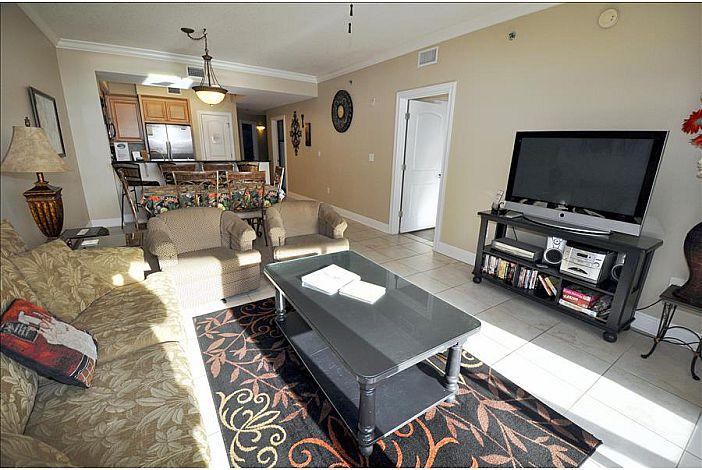 Living room facing TV