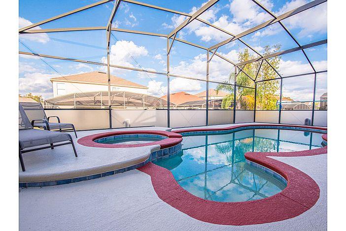 private Pool & Spa, screened deck