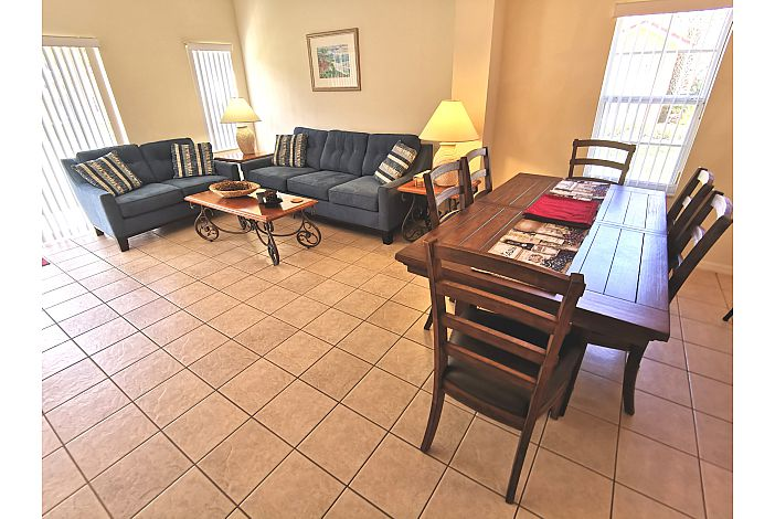 open Dining/Living Room Area
