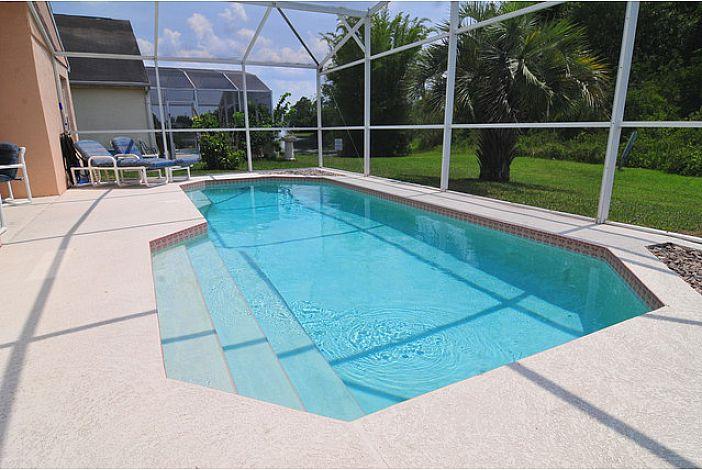 private pool, heated