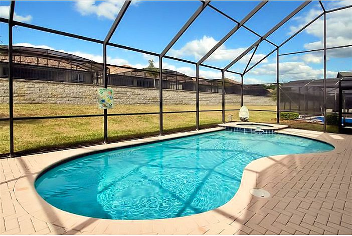 large 30x15 pool, now w/privacy bushes-both sides