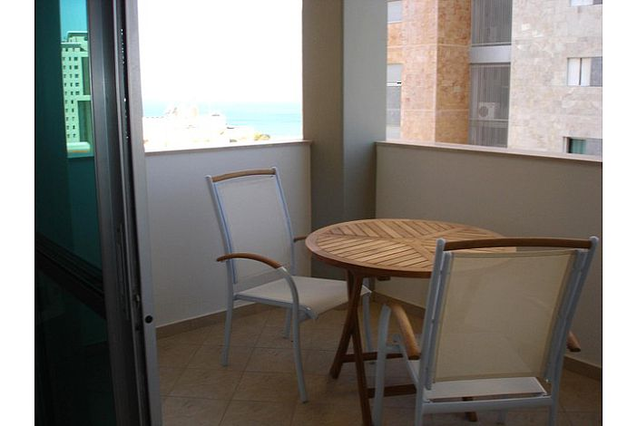 Dine outstide on the balcony with sea view