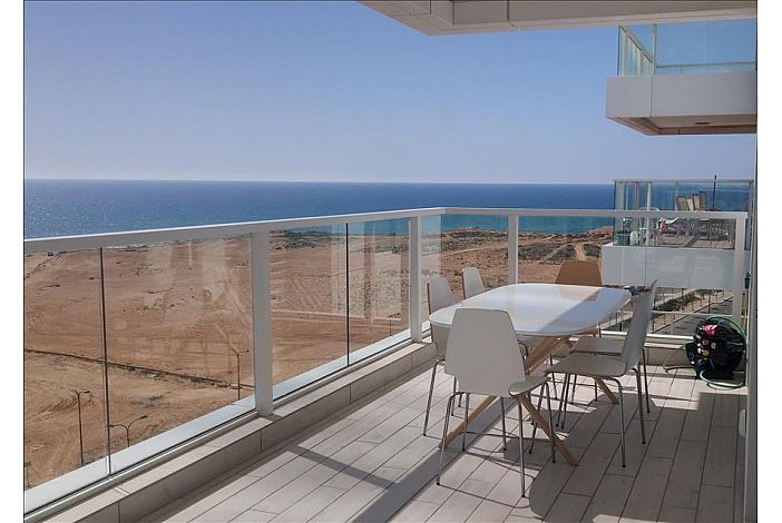 Large balcony with spectacular sea view