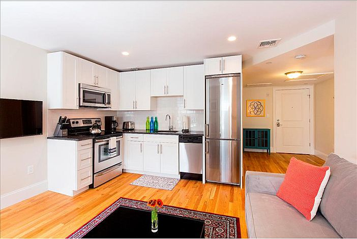 Kitchen/Living - South Boston Furnished Rental