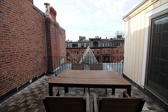 Private, Walk Out Terrace  Boston Rental, Back Bay