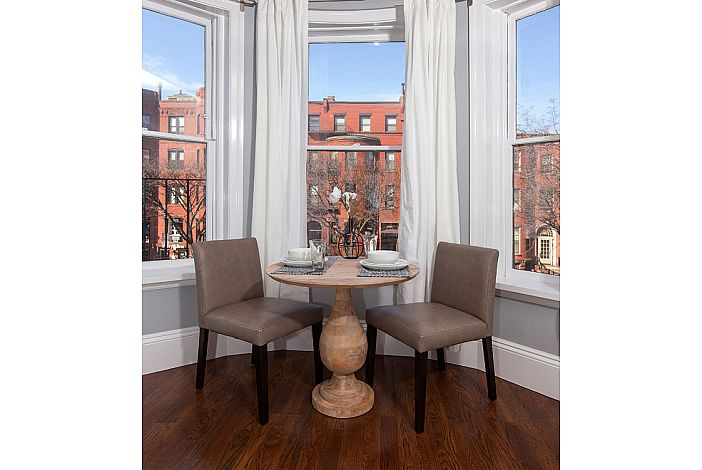 Seating in Bay Window - Boston Rental, Back Bay