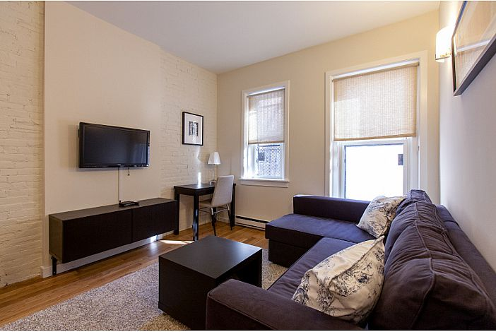 Living Room - Boston Rental, Back Bay
