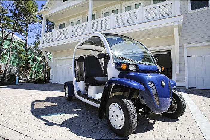 4-Seater Golf Cart Included with Every Rental!