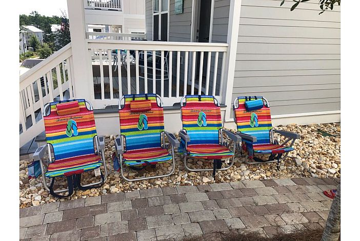 Four (4)  Beach Chairs Included!!