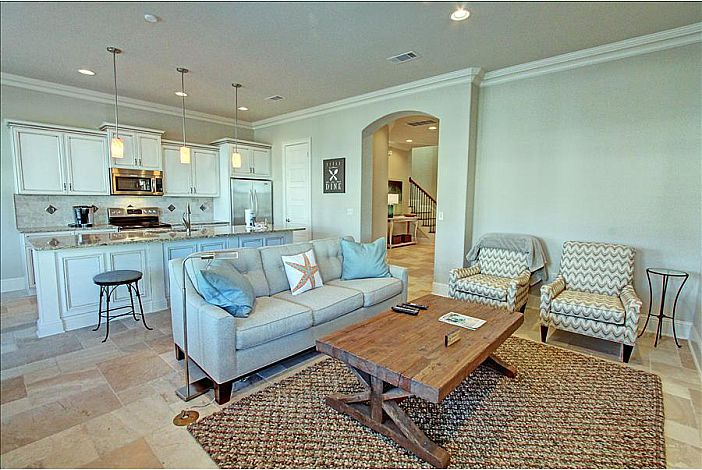 Beautiful Kitchen Overlooking Living Room