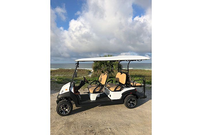 6 Seater Golf Cart to Cruise the Area!