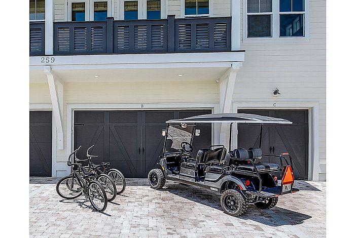 6 Seater Golf Cart & 3 Bikes!