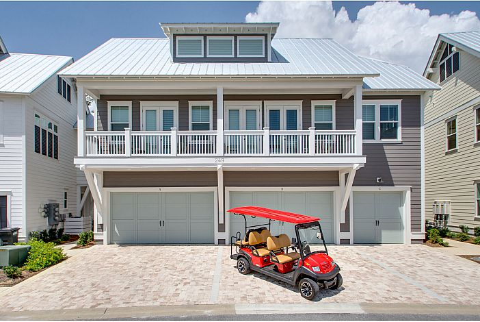 Sand and Surf, with a Golf Cart!