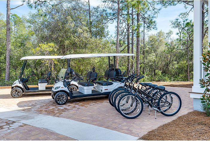 2 Golf Cart & Bikes Included!