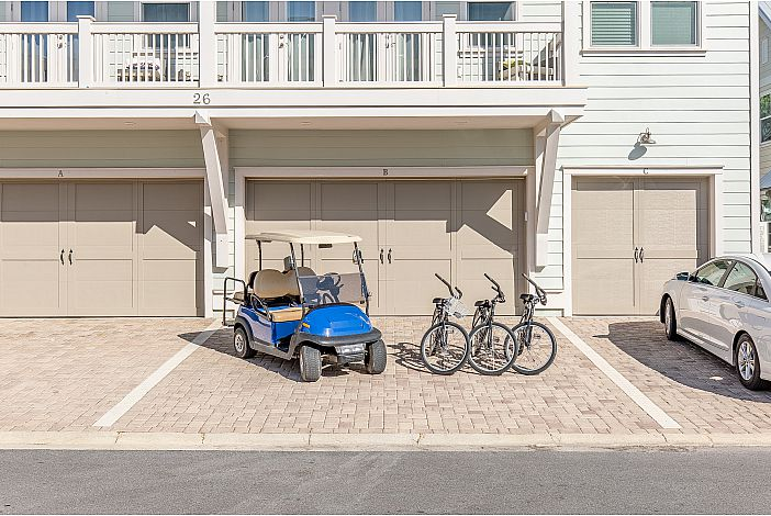 Three Bikes and Four Seater Golf Cart to Travel!