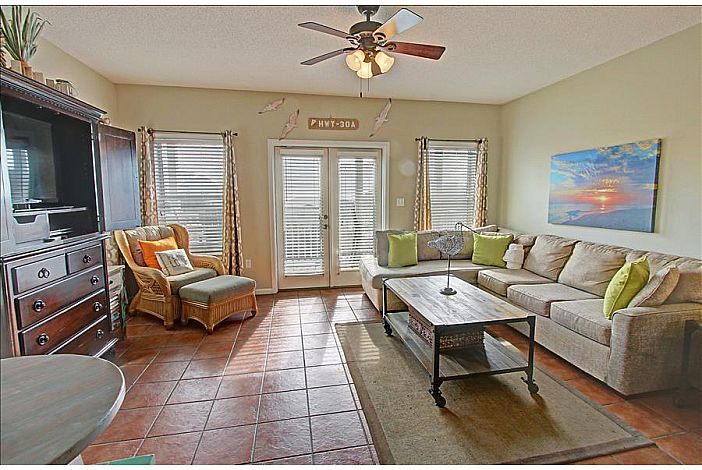 Second Floor Living Room with Balcony!