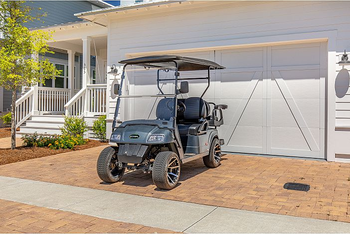Features a 4 Seater Golf Cart!