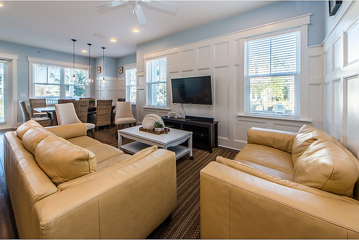 Spacious Living Room Area with Plenty of Seating