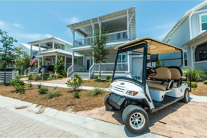6 Seater Golf Cart at Southern Tide!