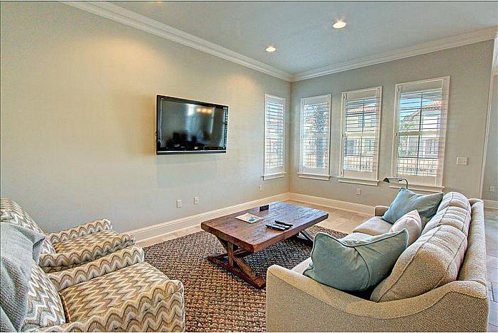 Living Room with Plush Furniture & Sleeper Sofa