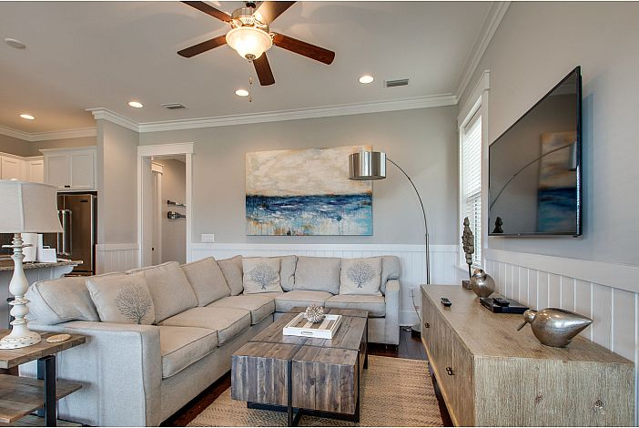 Spacious open Living Room with plenty of seating